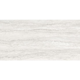 Anatolia Tile Excite Ivory Polished 12-in x 24-in Polished Porcelain Stone Look Tile