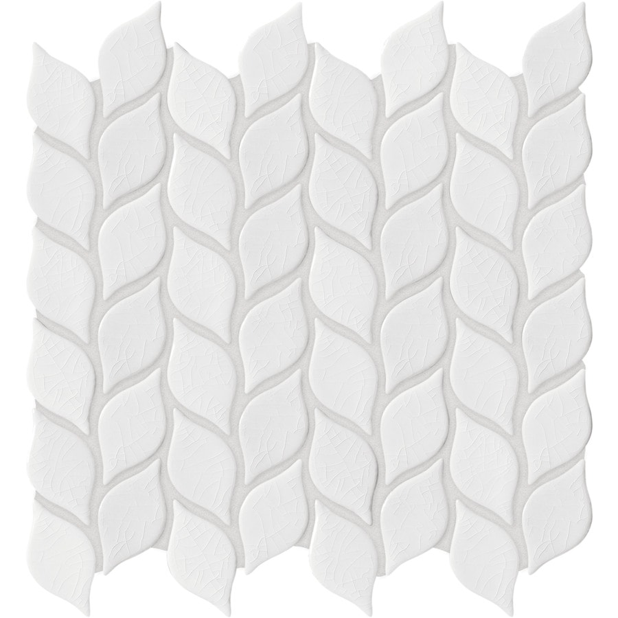 Shop anatolia tile vanilla leaf mosaic ceramic wall tile common 12 anatolia tile vanilla leaf mosaic ceramic wall tile common 12 in x 12 dailygadgetfo Gallery