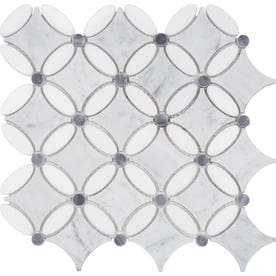 Anatolia Tile Flower 12-in x 12-in Marble Mosaic Floor and Wall Tile (Common: 12-in x 12-in; Actual: 11.41-in x 11.41-in)
