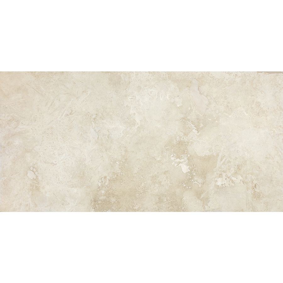 Anatolia Tile Ivory 12 In X 24 In Honed And Filled Natural Stone Travertine Floor Tile In The Tile Department At Lowes Com