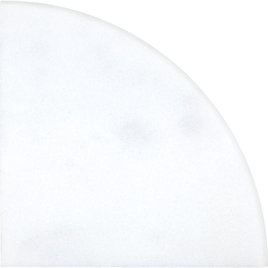 Anatolia Tile White Venatino Marble Corner Shelf Tile (Common: 9-in x 9-in; Actual: 8.86-in x 8.86-in)
