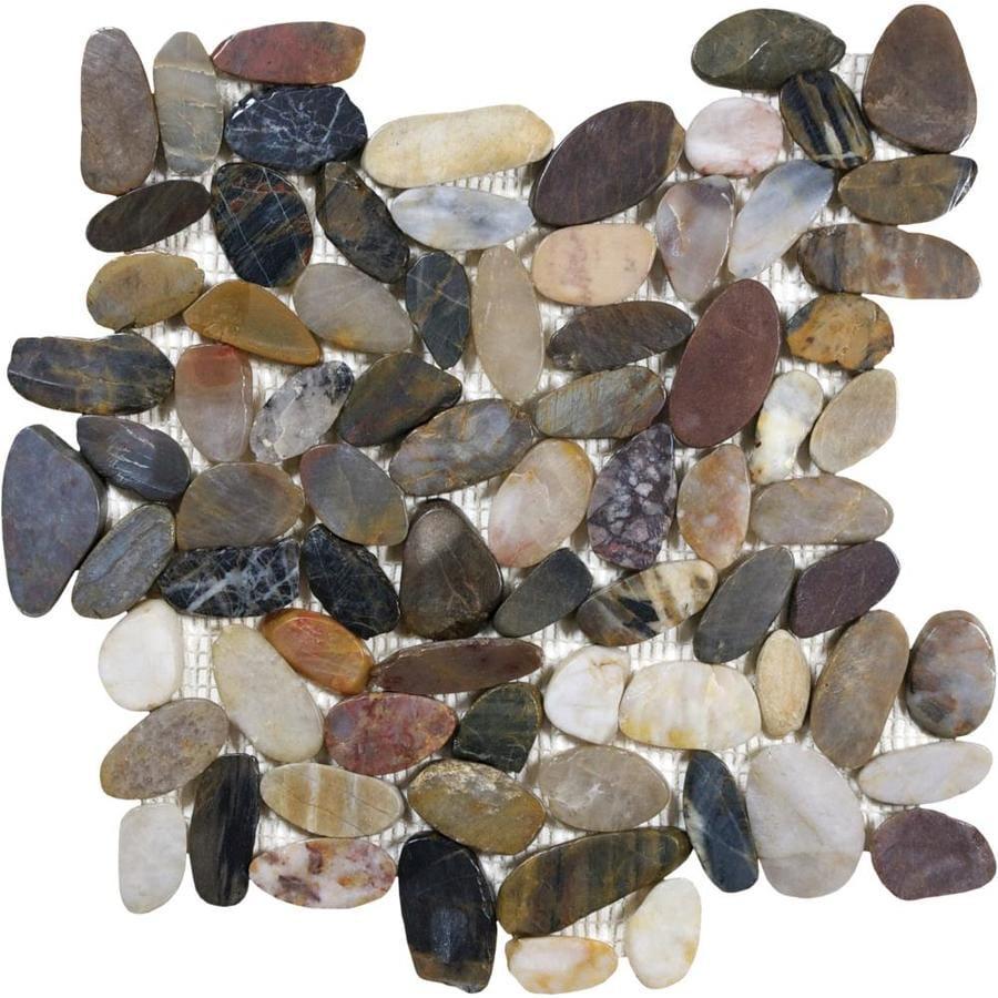 Anatolia Tile River Rock Pebble Mosaic Sample Common 6 In X