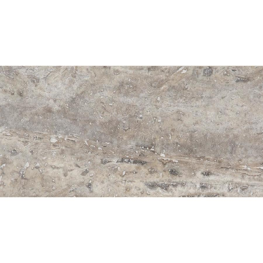 Anatolia Tile Silver Ash Travertine Tile Sample Common 3 In X 6 In