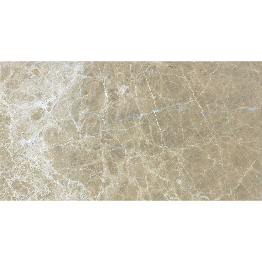 Anatolia Tile 44-Pack Polished Emperador Light Marble Floor and Wall Tile (Common: 3-in x 6-in; Actual: 2.95-in x 5.9-in)