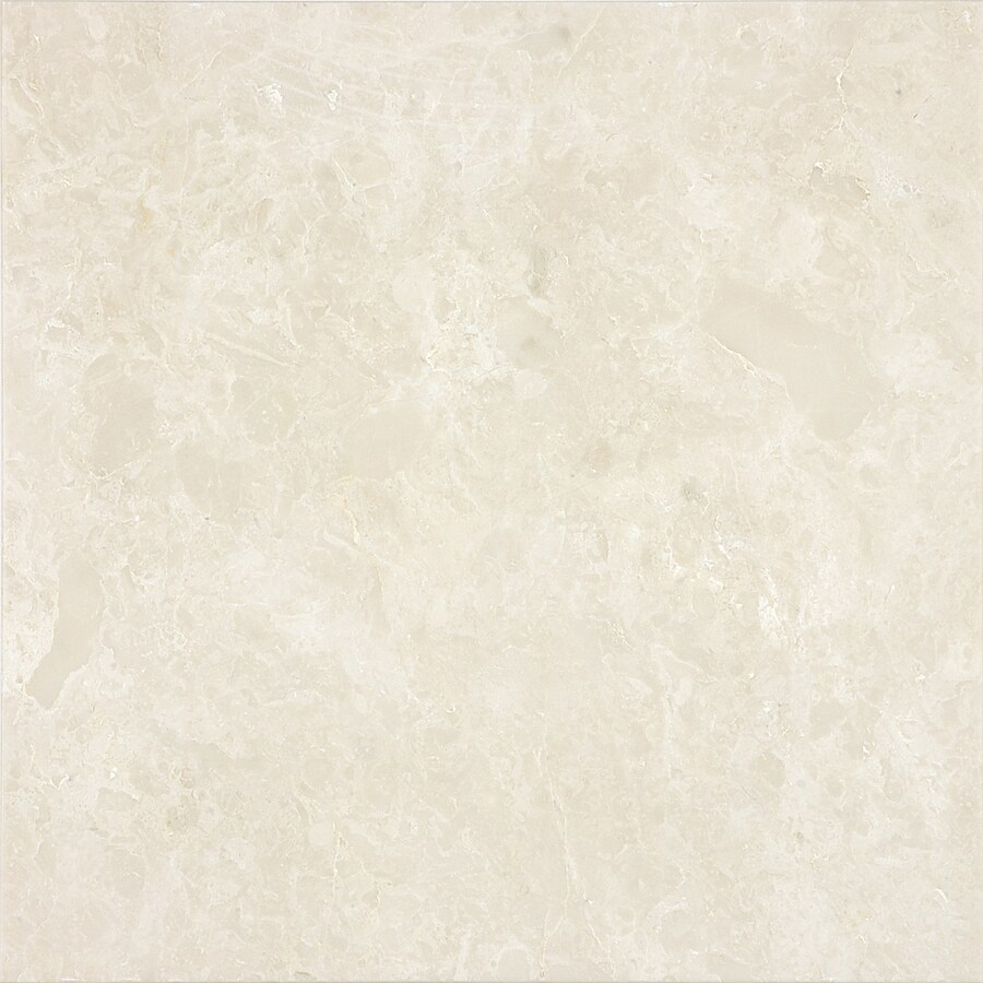 Anatolia Tile 8-Pack Polished Crema Luna Marble Floor and Wall Tile (Common: 12-in x 12-in; Actual: 12-in x 12-in)