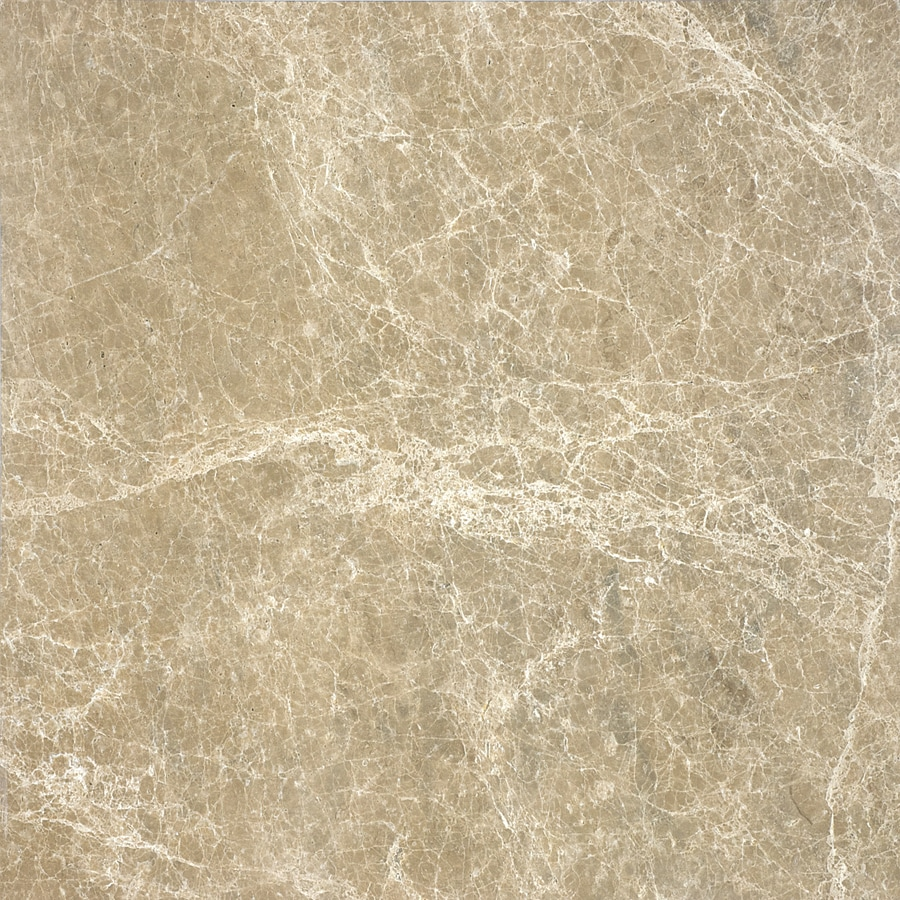 Anatolia Tile 4-Pack Polished Emperador Light Marble Floor and Wall Tile (Common: 18-in x 18-in; Actual: 17.99-in x 17.99-in)