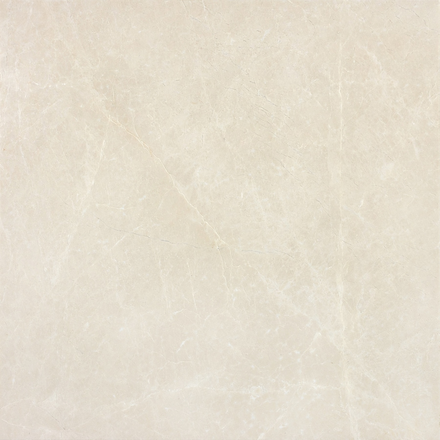 Anatolia Tile 4-Pack Polished Crema Luna Marble Floor and Wall Tile (Common: 18-in x 18-in; Actual: 17.99-in x 17.99-in)