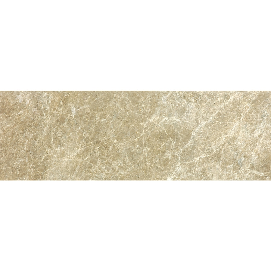 Anatolia Tile 12-Pack Polished Emperador Light Marble Floor and Wall Tile (Common: 6-in x 18-in; Actual: 5.9-in x 17.99-in)