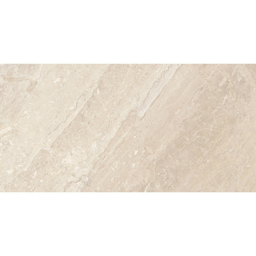 Anatolia Tile 4-Pack Impero Reale Marble Floor And Wall Tile (Common: 12-in x 24-in; Actual: 24-in x 12-in)