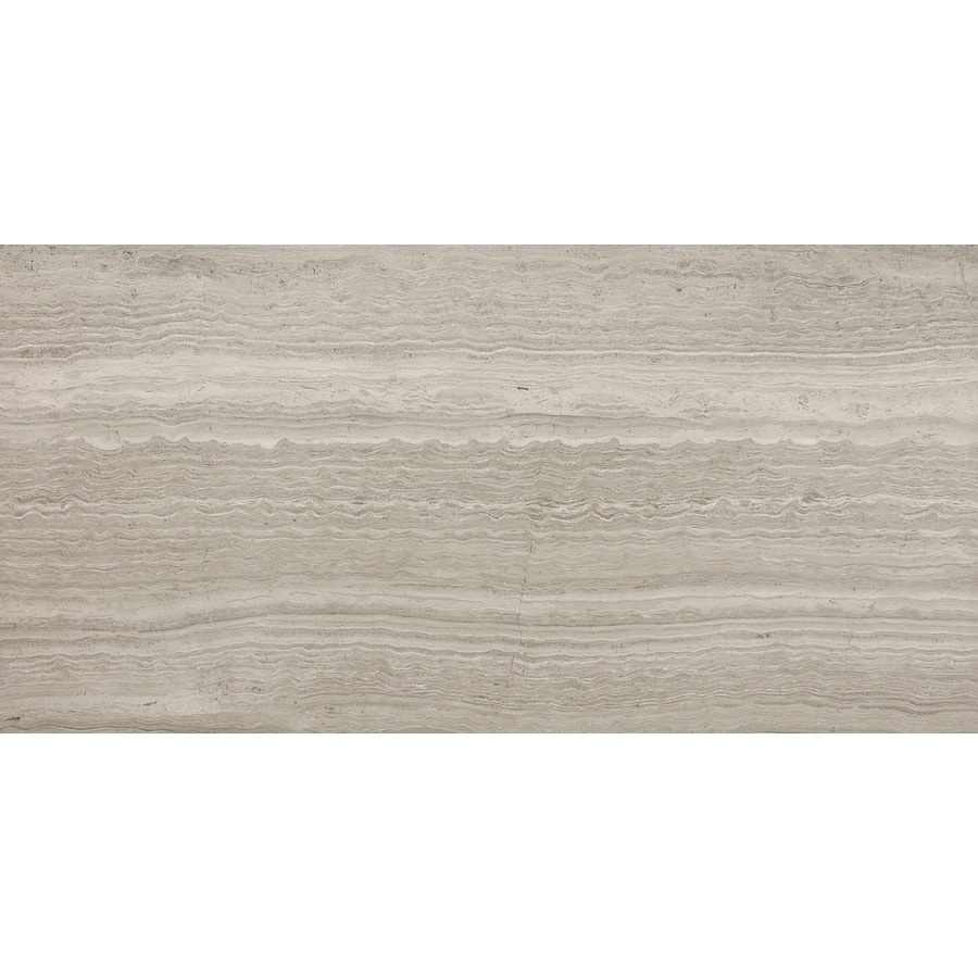 Anatolia Tile 4-Pack Strada Mist Marble Floor And Wall Tile (Common: 12-in x 24-in; Actual: 24-in x 12-in)