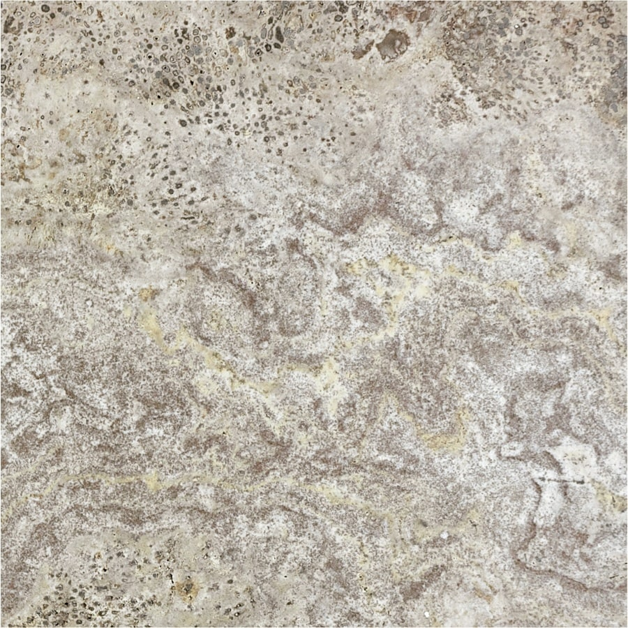 Anatolia Tile 10-Pack Silver Ash Travertine Floor and Wall Tile (Common: 12-in x 12-in; Actual: 12-in x 12-in)
