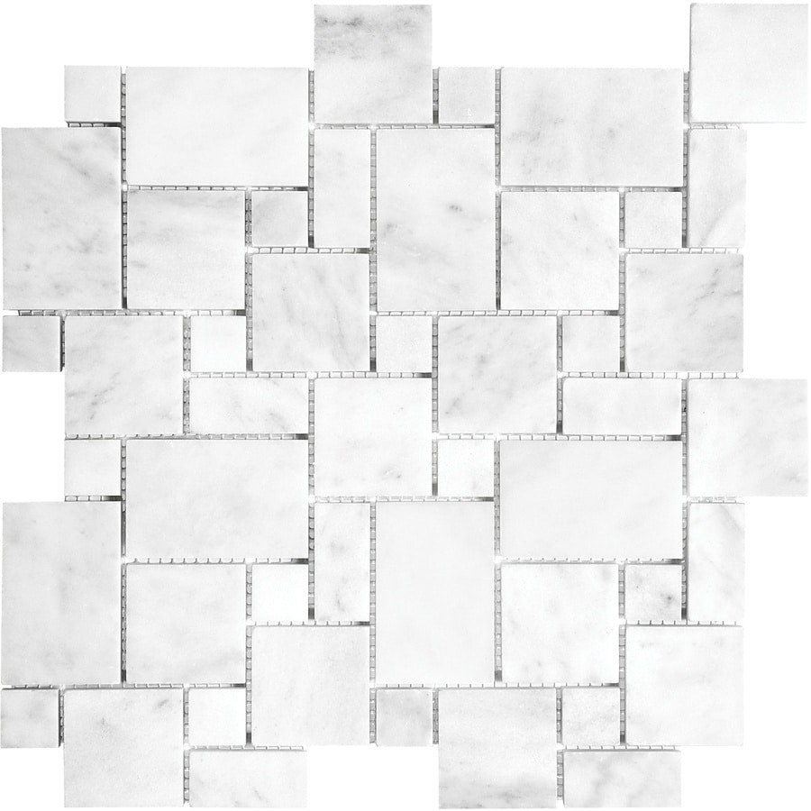 Anatolia Tile Venatino Versailles Mosaic Marble Floor And Wall Common 12 In