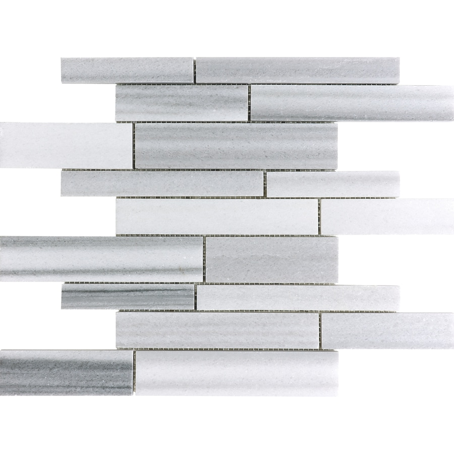 Anatolia Tile Annex Grigio Linear Mosaic Marble Wall Tile (Common: 12-in x 12-in; Actual: 12-in x 12-in)