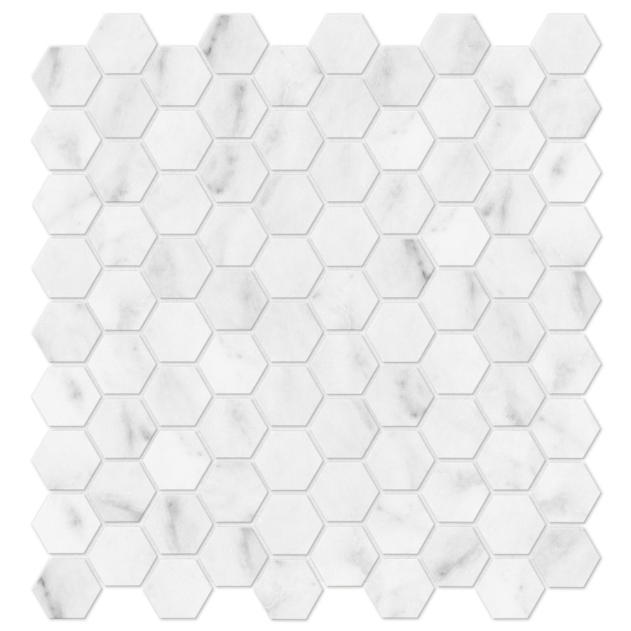 Shop Anatolia Tile Venatino Honeycomb Mosaic Marble Floor And Wall ...