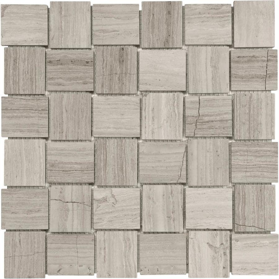 Anatolia Tile Strada Mist Uniform Squares Mosaic Marble Floor And Wall Tile (Common: 12-in x 12-in; Actual: 12-in x 12-in)