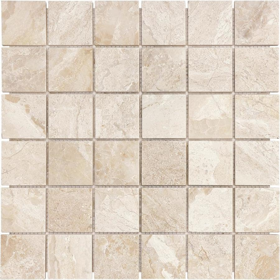 Anatolia Tile Impero Reale Uniform Squares Mosaic Marble Floor And Wall Tile (Common: 12-in x 12-in; Actual: 12-in x 12-in)