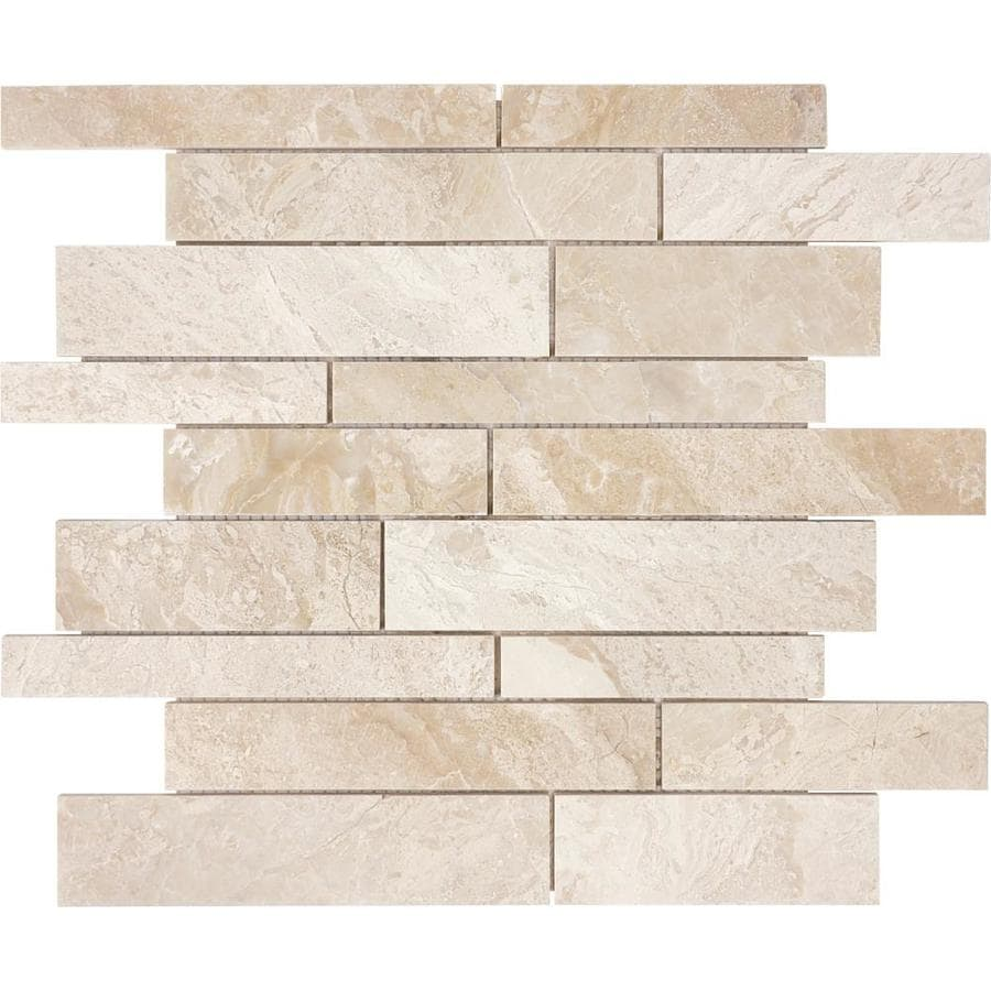 Anatolia Tile Impero Reale Linear Mosaic Marble Wall Tile (Common: 12-in x 12-in; Actual: 12-in x 12-in)