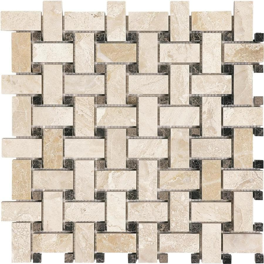 Shop anatolia tile impero reale basketweave mosaic marble floor and anatolia tile impero reale basketweave mosaic marble floor and wall tile common 12 dailygadgetfo Gallery