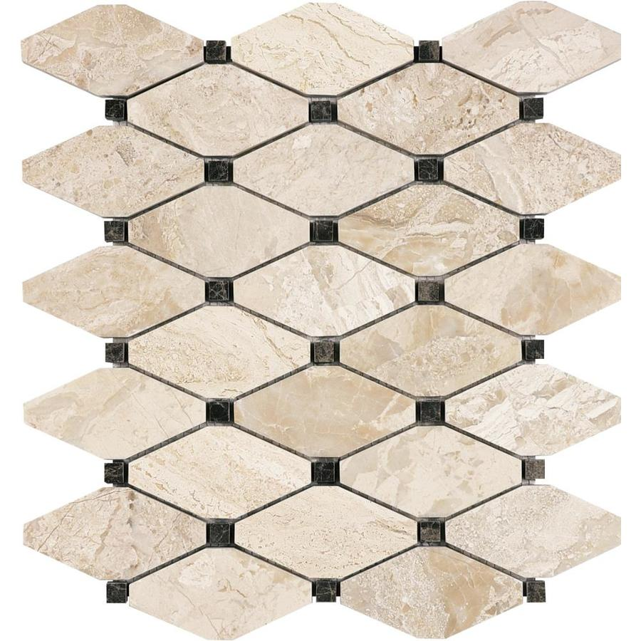 Anatolia Tile Impero Reale Diamond Marble Mosaic Floor And Wall Common 12
