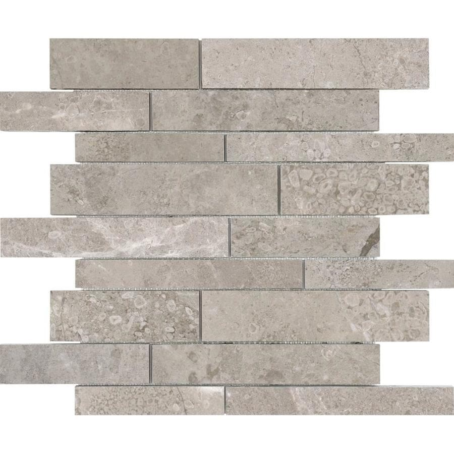 Anatolia Tile Ritz Linear Mosaic Marble Wall Tile (Common: 12-in x 12-in; Actual: 12-in x 12-in)