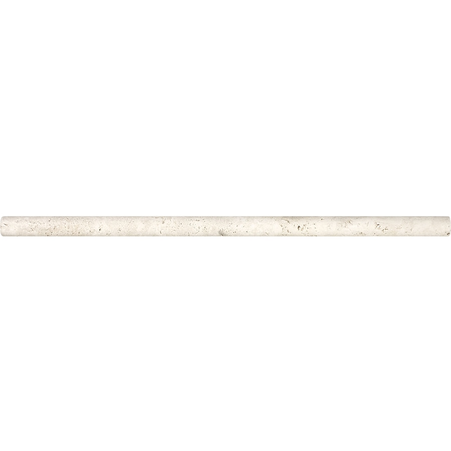Anatolia Tile Ivory Premium Travertine Pencil Liner Tile (Common: 5/8-in x 12-in; Actual: 0.59-in x 12-in)