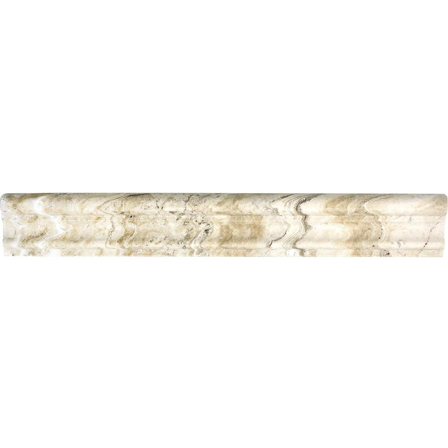 Superb Travertine Chair Rail 2 X 12 Part - 14: Anatolia Tile Pablo Travertine Chair Rail Tile (Common: 2-in X 12-