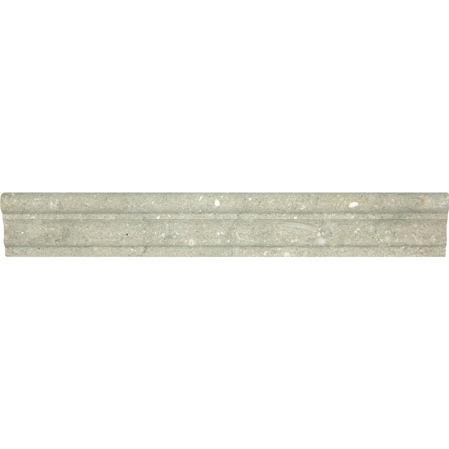 Anatolia Tile Seagrass Limestone Chair Rail Tile (Common: 2-in x 12-in; Actual: 1.77-in x 12-in)