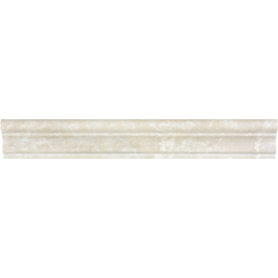 Anatolia Tile Crema Luna Marble Chair Rail Tile (Common: 2