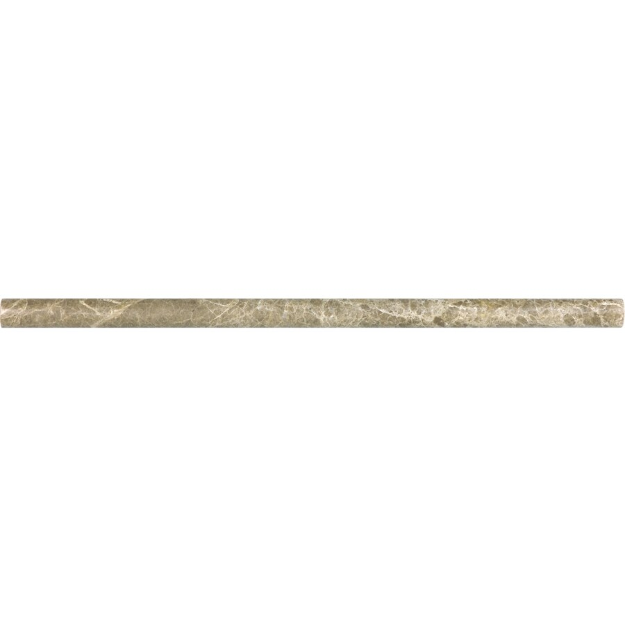 Anatolia Tile Emperador Light Marble Pencil Liner Tile (Common: 5/8-in x 12-in; Actual: 0.59-in x 12-in)