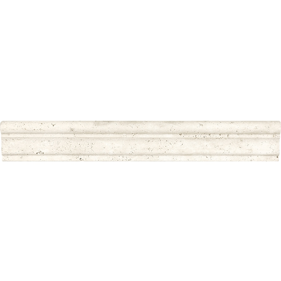 Ordinary Travertine Chair Rail 2 X 12 Part - 9: Anatolia Tile Ivory Premium Travertine Chair Rail Tile (Common: 2-in X 12
