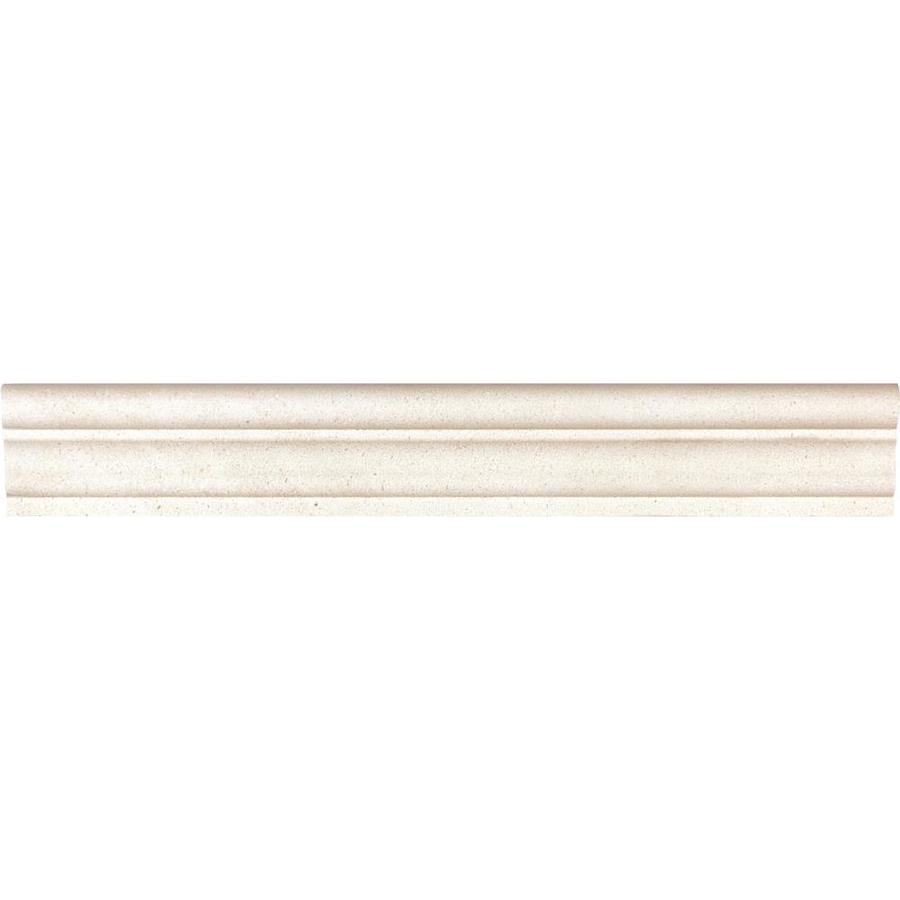 Anatolia Tile Serene Ivory Natural Stone Limestone Chair Rail Tile (Common: 2-in x 12-in; Actual: 12-in x 1.77-in)