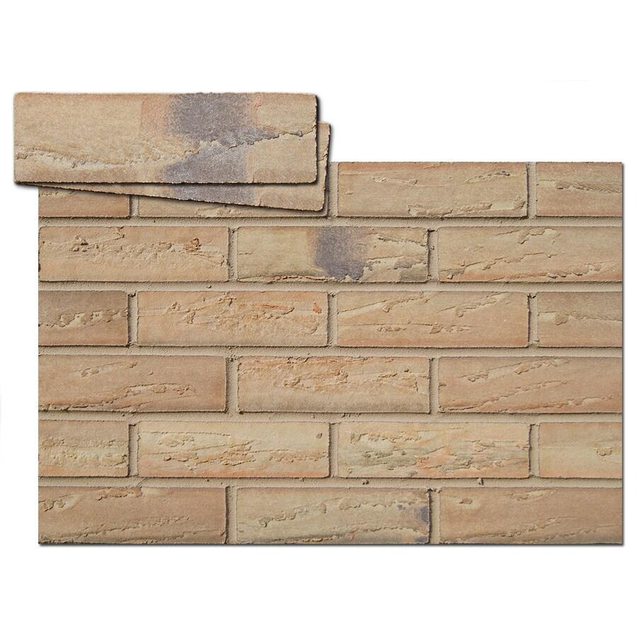 Flexi-Brick 2.625-in x 9.375-in Honey Gold Individual Piece Brick Veneer
