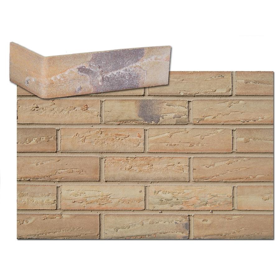 Flexi-Brick 2.625-in x 13.75-in Honey Gold Individual Piece Brick Veneer