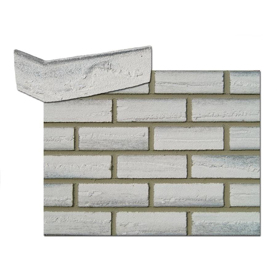 Flexi-Brick 2.625-in x 11.125-in Flamed Gray Individual Piece Brick Veneer