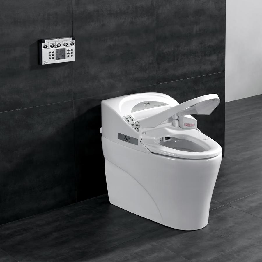 OVE Decors White 1.6-GPF (6.06-LPF) 12 Rough-In Elongated 1-Piece Standard Height Toilet