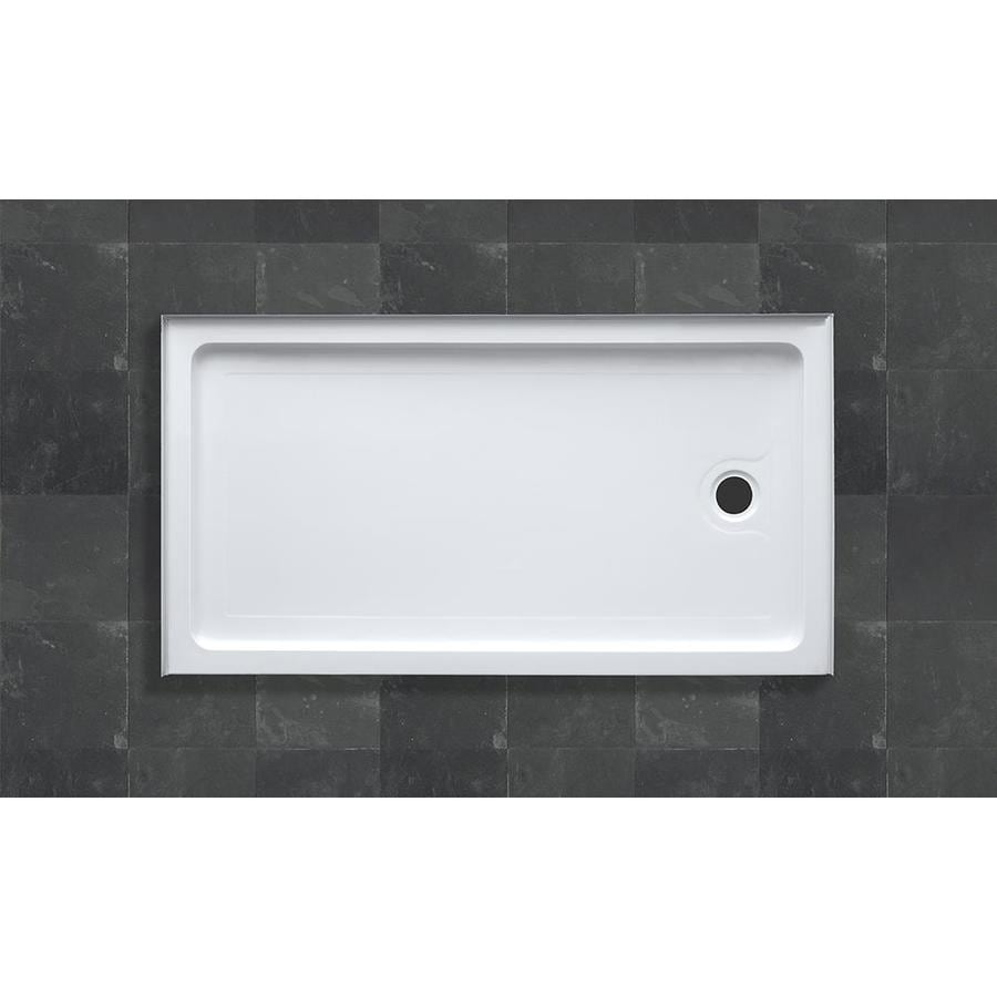 OVE Decors Sydney White Acrylic Shower Base (Common: 32-in W x 60-in L; Actual: 32-in W x 60-in L)