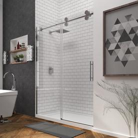 Charmant OVE Decors Sydney 56 In To 59.5 In W Frameless Satin Nickel Sliding Shower