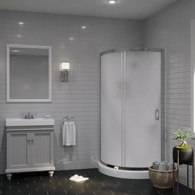 lowes corner shower kit. OVE Decors Breeze Paris Chrome Wall Acrylic Floor Round 4 Piece Corner  Shower Kit Shop Stalls Kits at Lowes com