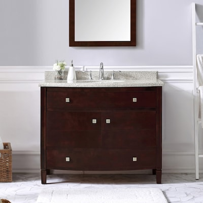 OVE Decors Georgia 42-in Tobacco Single Sink Bathroom Vanity ...