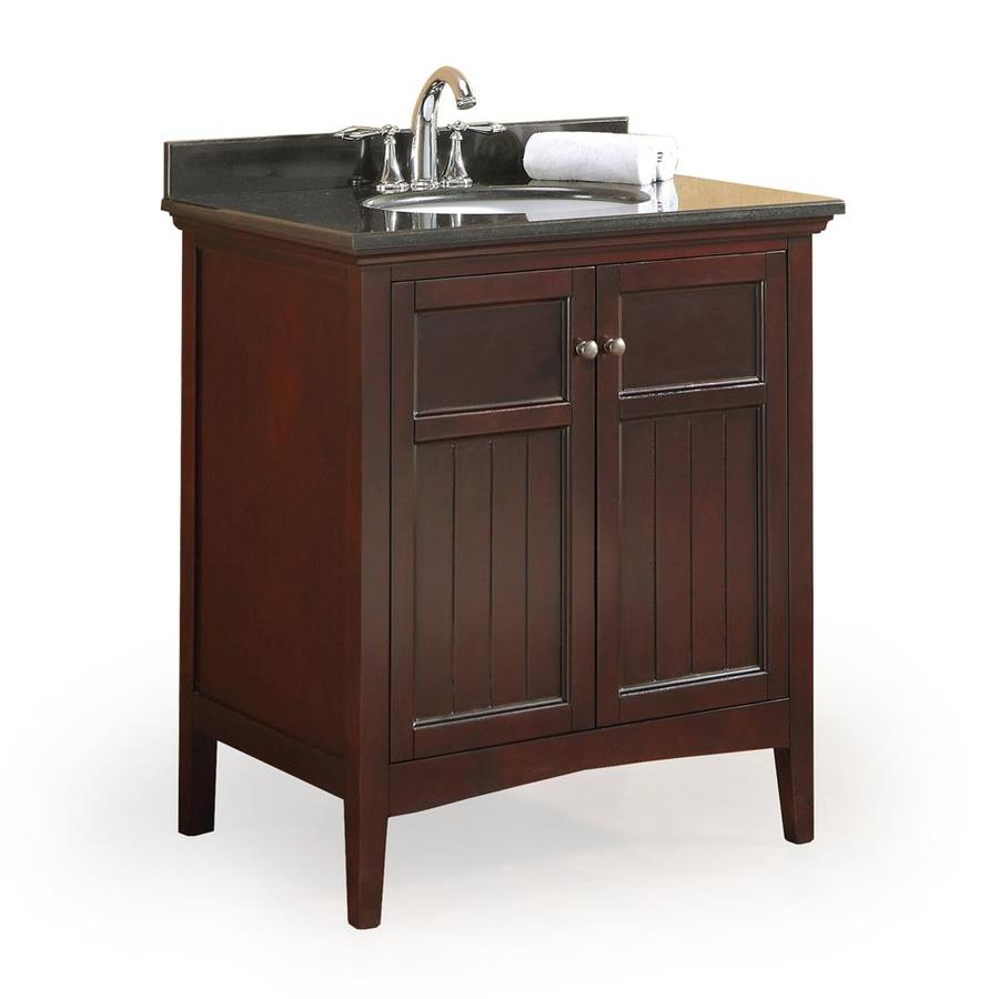Shop ove decors gavin tobacco 30 in undermount single sink for Granite bathroom vanity