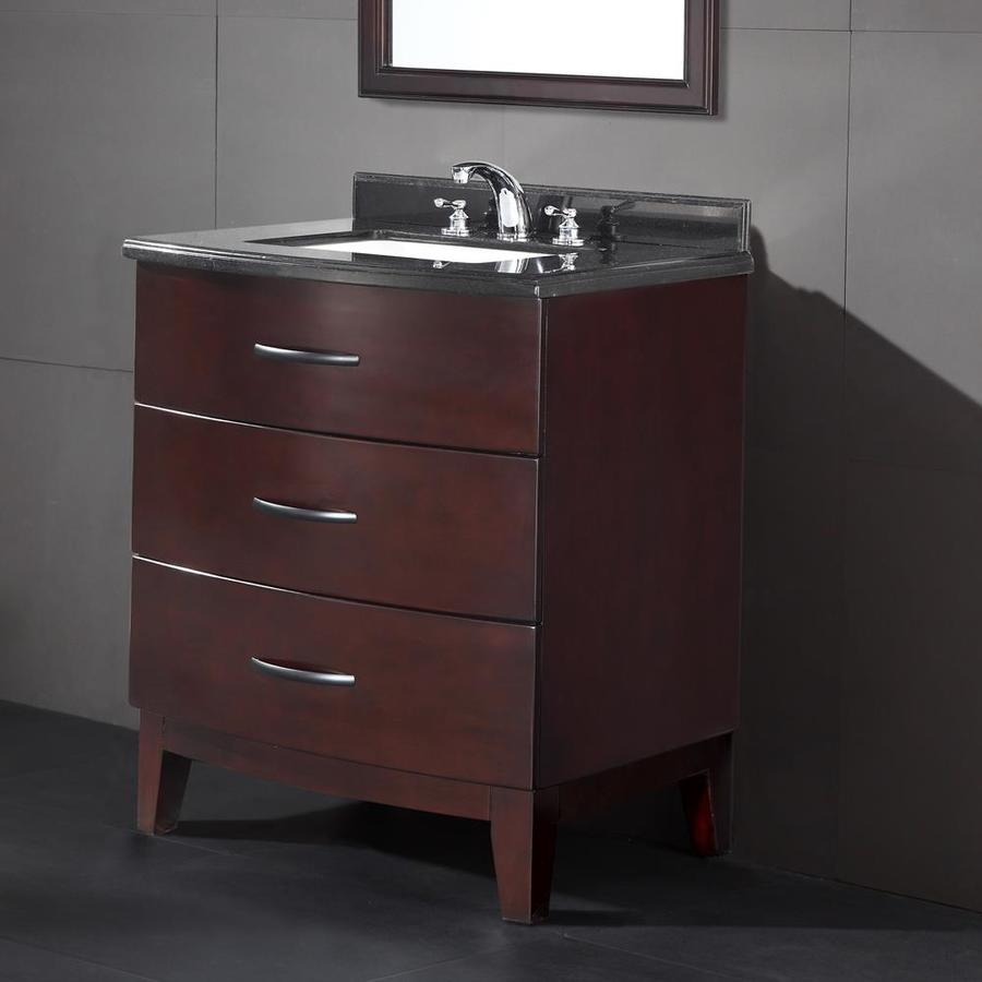 OVE Decors Tobo 30.0-in Tobacco Undermount Single Sink Bathroom Vanity with Granite Top