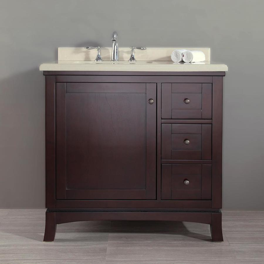 Shop Ove Decors Valega Tobacco Undermount Single Sink Bathroom Vanity With Cultured Marble Top
