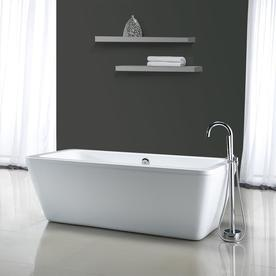 freestanding deep soaking tub. ove decors kido 69-in gloss white acrylic freestanding bathtub with center drain deep soaking tub