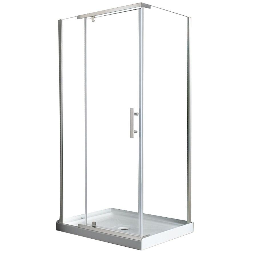 Ove Decors Shower Doors Shop Ove Decors 39 In To 40 In Frameless Pivot Shower Door At