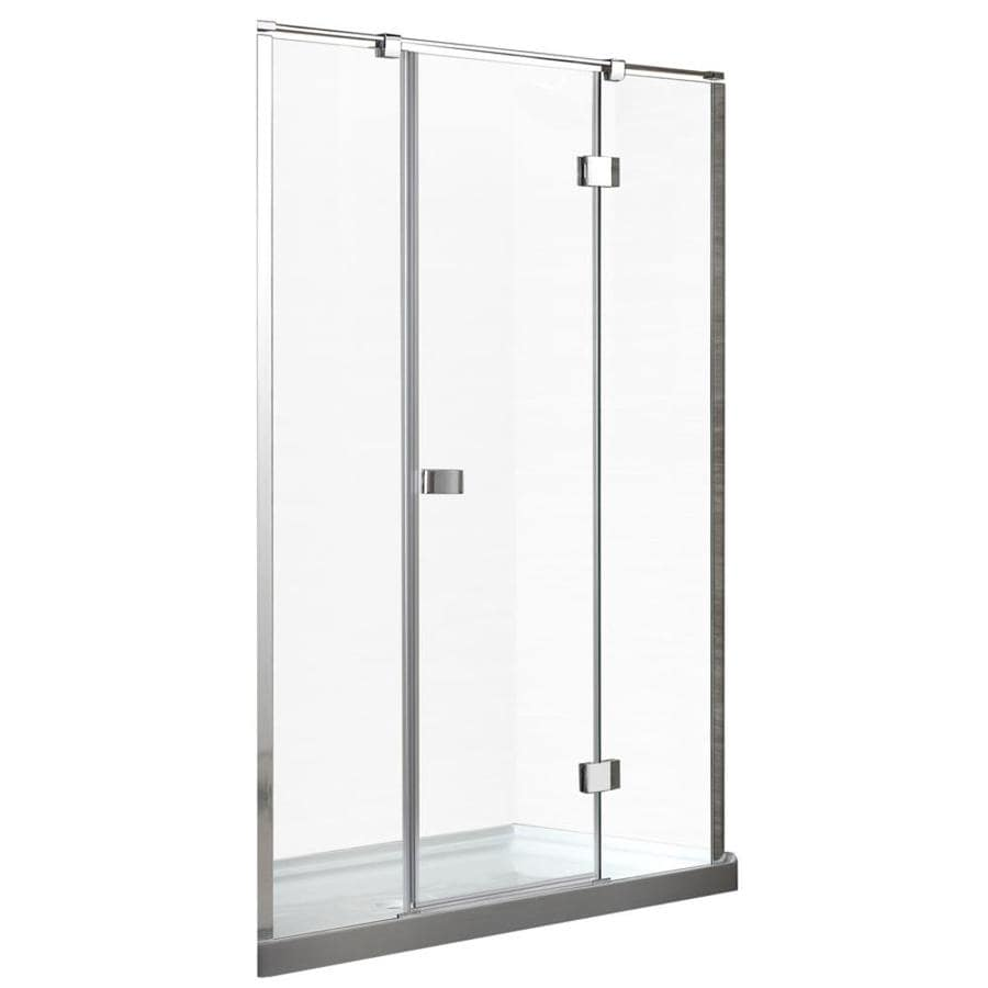 OVE Decors 58.25-in to 58.75-in Frameless Hinged Shower Door