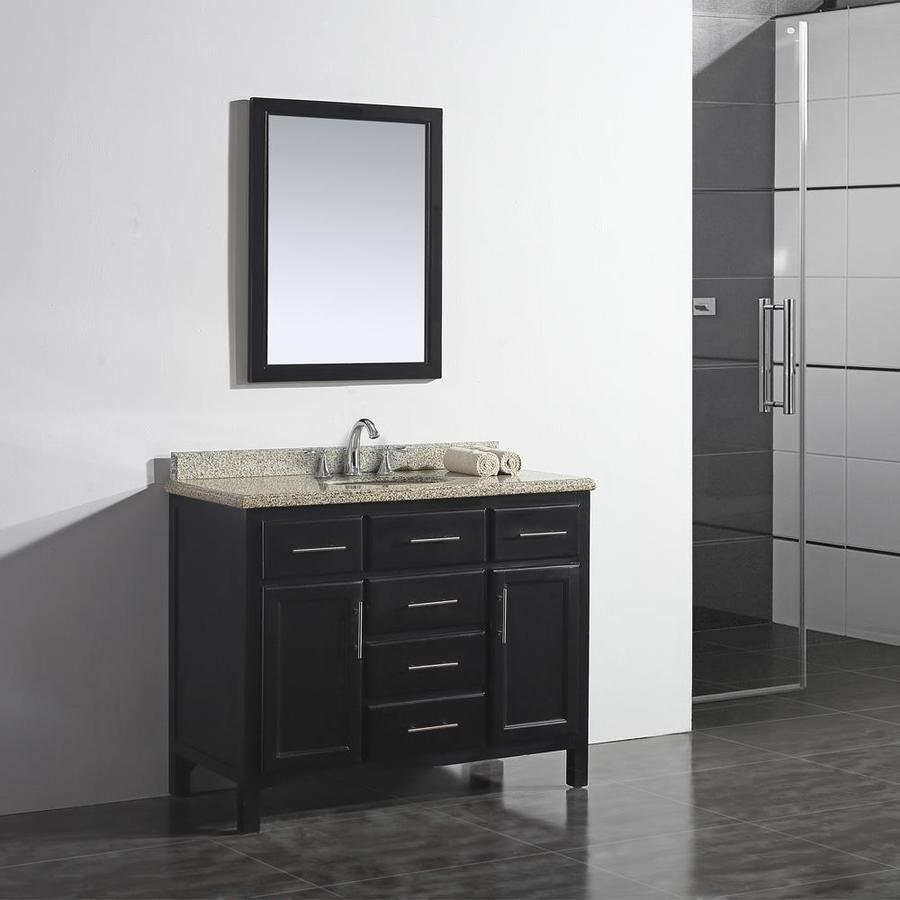 OVE Decors Malibu Dark Espresso Undermount Single Sink Bathroom Vanity with Granite Top (Common: 42-in x 21-in; Actual: 42-in x 21-in)