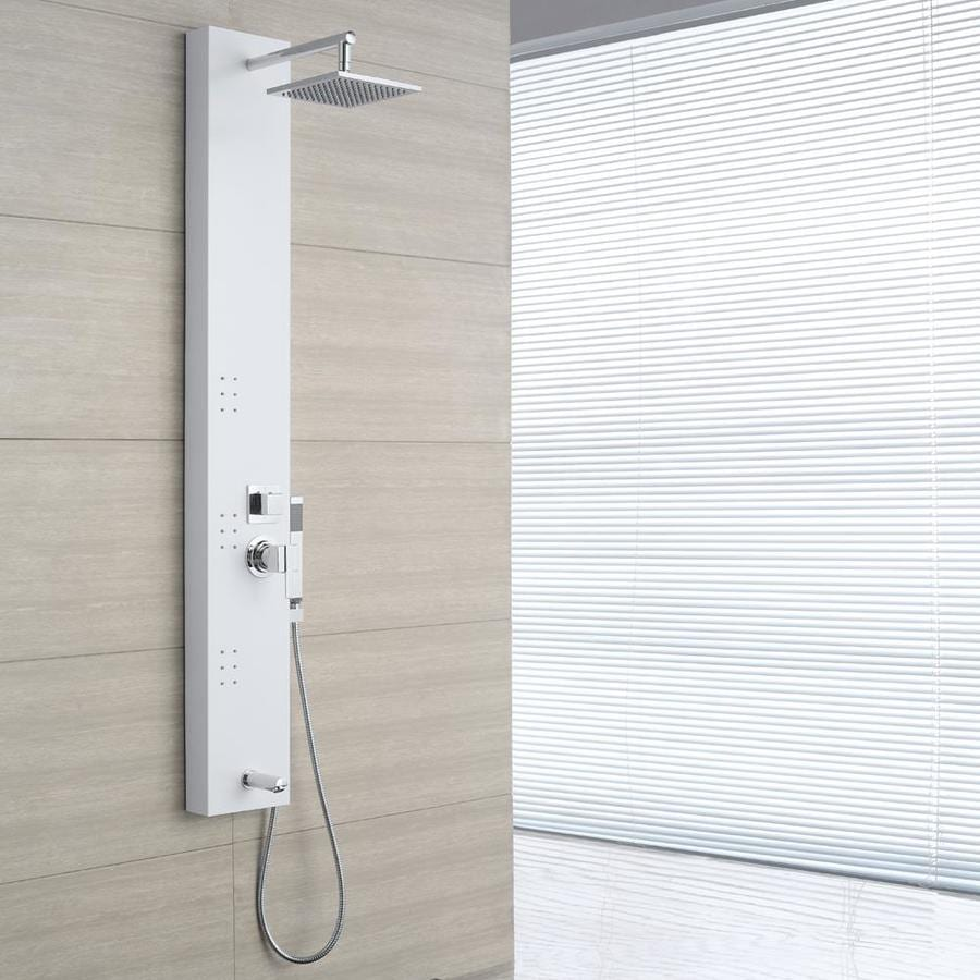 OVE Decors 3-Way White Shower Panel System