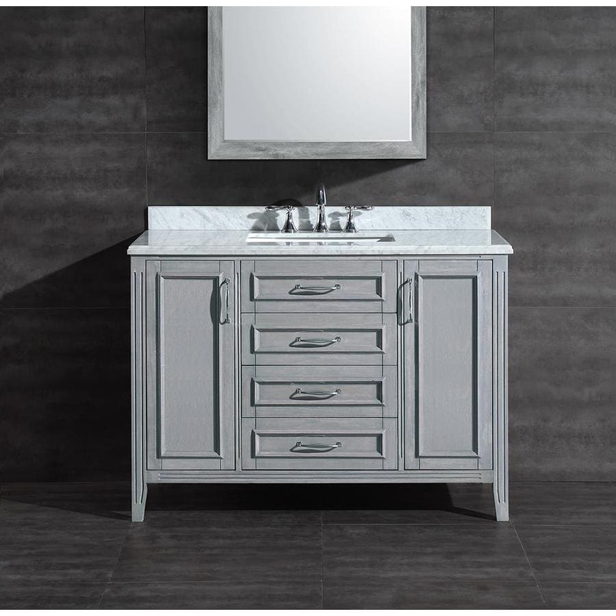 Ove decors daniel grey undermount single sink bathroom - Lowes single sink bathroom vanity ...