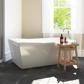 Merveilleux OVE Decors Morgan 60 In White With Reversible Drain Bathtub