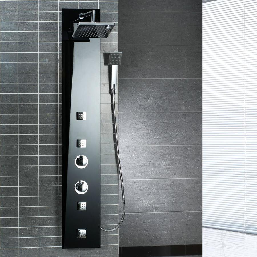 Shop Ove Decors 3 Way Black Shower Panel System At Lowes Com